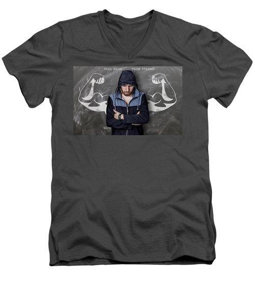 Feel Weak Think Strong Men's V-Neck T-Shirt