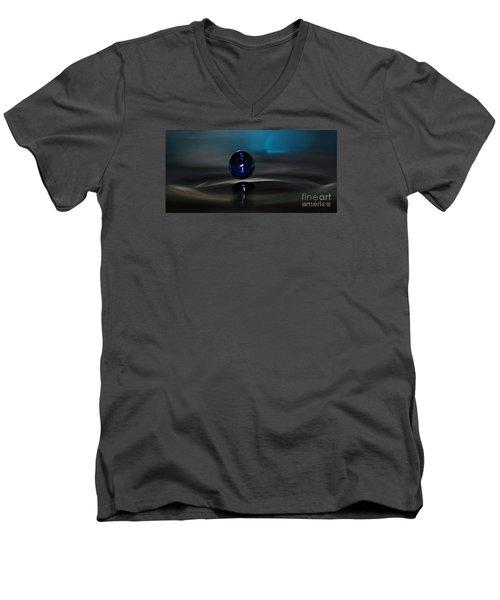 Feeling Blue Men's V-Neck T-Shirt by Kym Clarke