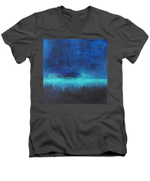 Feeling Blue Men's V-Neck T-Shirt by Nicole Nadeau