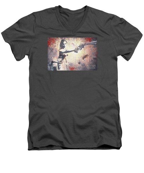 Feeling Lucky? Men's V-Neck T-Shirt