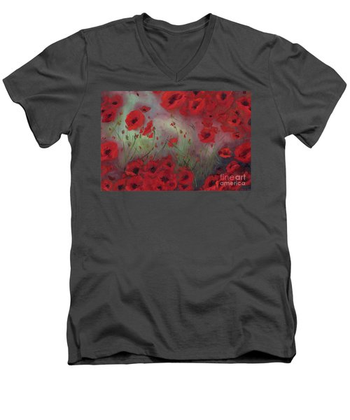 Feeling Poppy Men's V-Neck T-Shirt