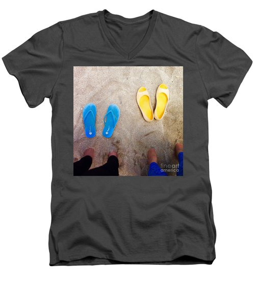 Feet Around The World #23 Men's V-Neck T-Shirt