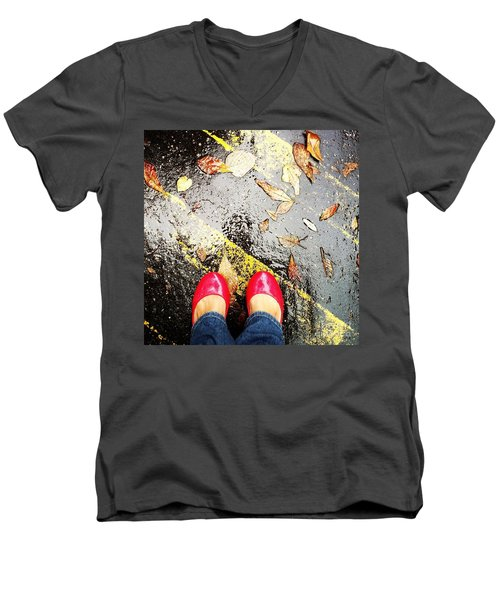 Feet Around The World #29 Men's V-Neck T-Shirt