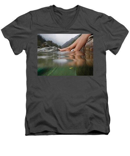 Feet On The Water Men's V-Neck T-Shirt