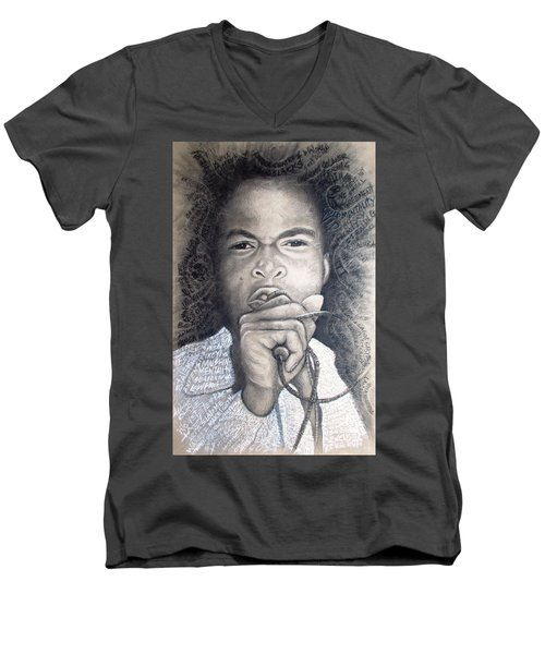 Fela  For Ever Lives Afrika Men's V-Neck T-Shirt by Bankole Abe