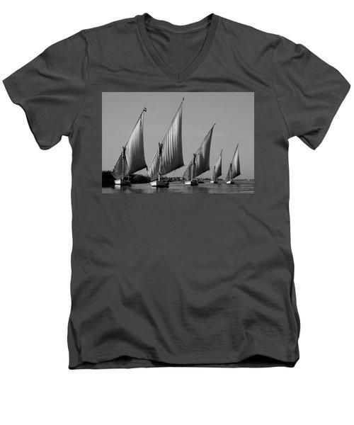 Feluccas On River Nile Men's V-Neck T-Shirt