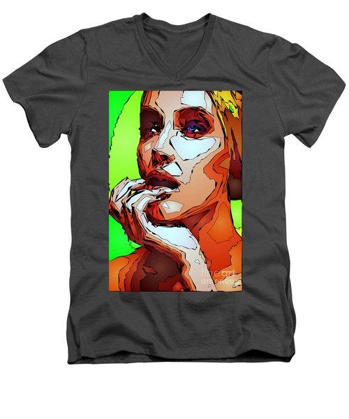 Female Expressions Men's V-Neck T-Shirt