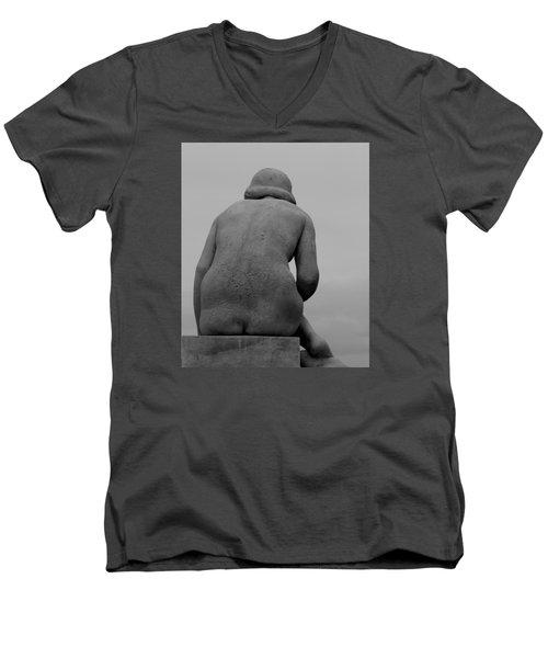 Female Nude Men's V-Neck T-Shirt