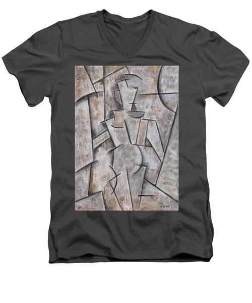 Femme Jolie Men's V-Neck T-Shirt by Trish Toro