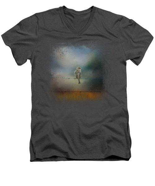 Fence Master Men's V-Neck T-Shirt by Jai Johnson