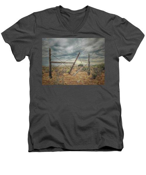 Fence Post Blues  Men's V-Neck T-Shirt