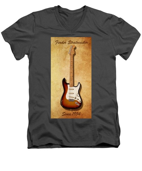 Fender Stratocaster Since 1954 Men's V-Neck T-Shirt