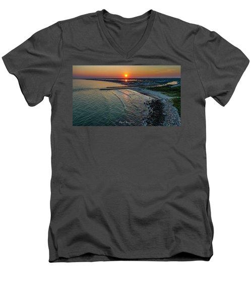 Fenway Beach Sunset Men's V-Neck T-Shirt