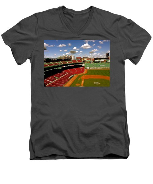 Men's V-Neck T-Shirt featuring the photograph Fenway Park Iv  Fenway Park  by Iconic Images Art Gallery David Pucciarelli