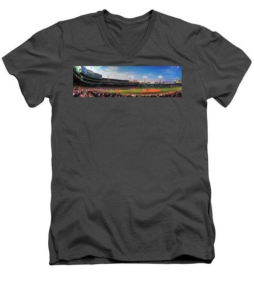 Fenway Park Panoramic - Boston Men's V-Neck T-Shirt
