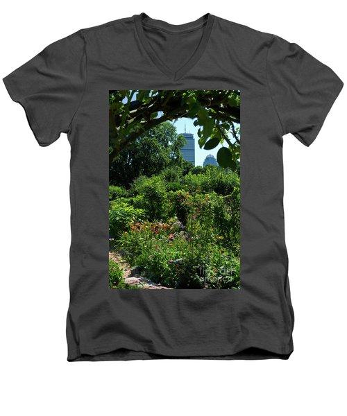 Fenway Victory Gardens In Boston Massachusetts  -30951-30952 Men's V-Neck T-Shirt