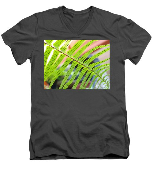Fern Men's V-Neck T-Shirt by Trena Mara