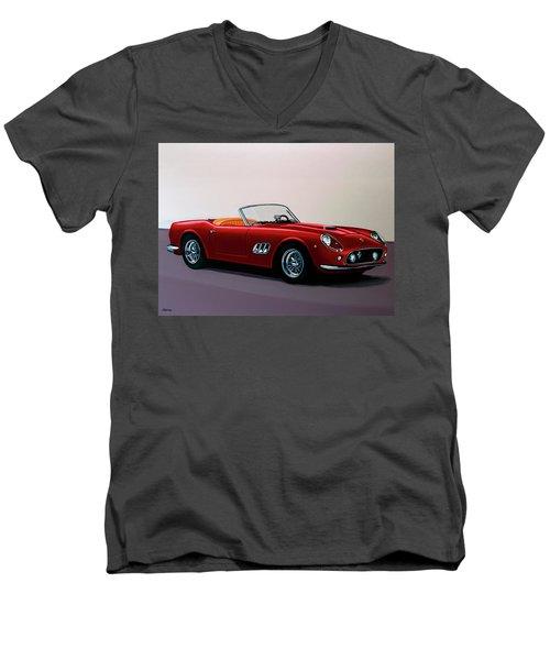 Ferrari 250 Gt California Spyder 1957 Painting Men's V-Neck T-Shirt