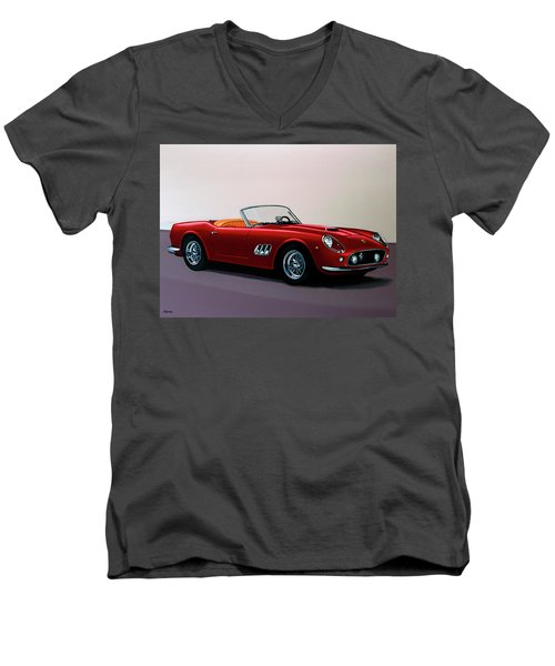 Ferrari 250 Gt California Spyder 1957 Painting Men's V-Neck T-Shirt