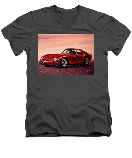 Ferrari 250 Gto 1962 Painting Men's V-Neck T-Shirt by Paul Meijering