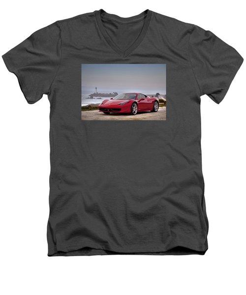 Ferrari 458 Italia Men's V-Neck T-Shirt