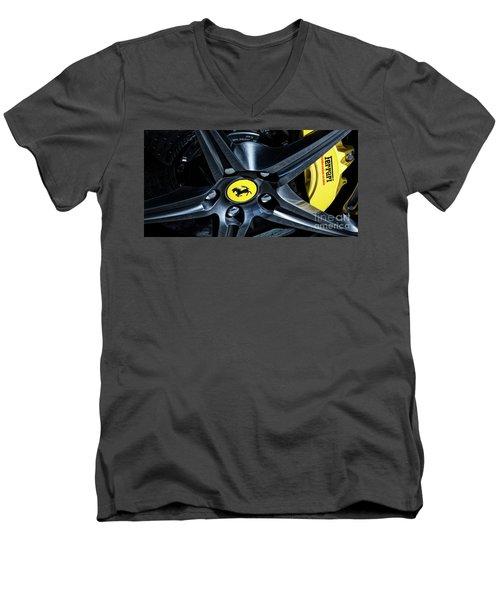Ferrari Wheel I Men's V-Neck T-Shirt