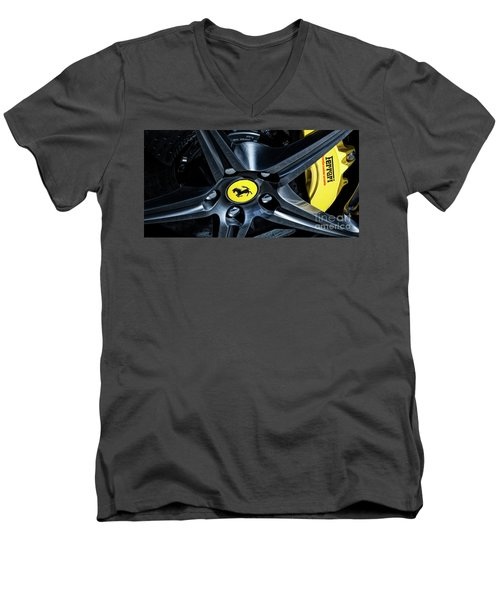 Ferrari Wheel I Men's V-Neck T-Shirt