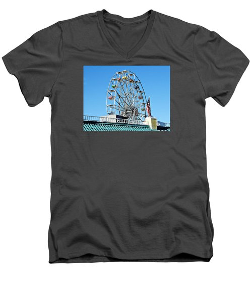 Ferris Wheel Men's V-Neck T-Shirt by Allen Beilschmidt