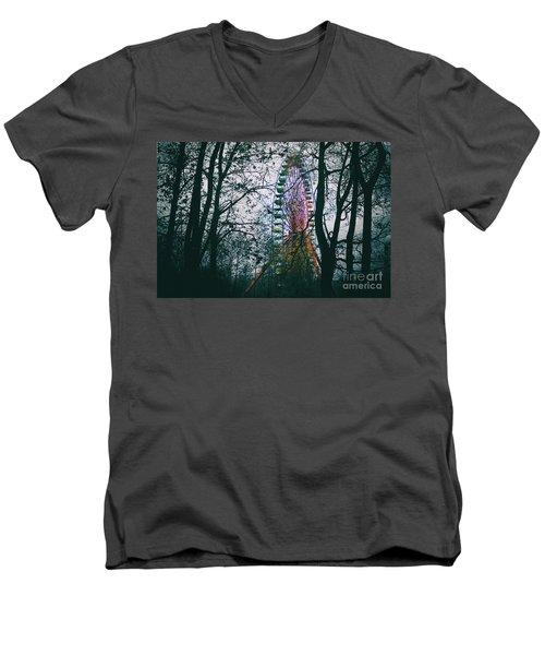 Ferris Wheel Men's V-Neck T-Shirt by Ana Mireles