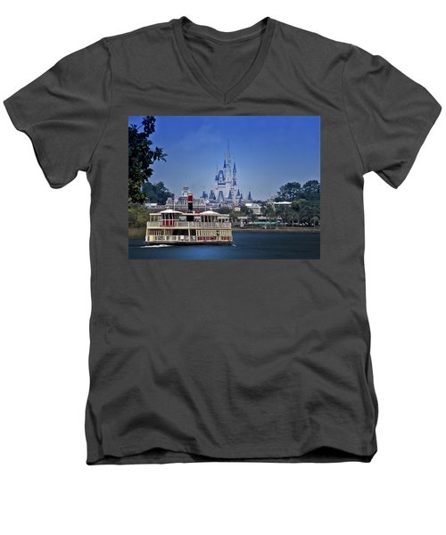 Ferry Boat Magic Kingdom Walt Disney World Mp Men's V-Neck T-Shirt