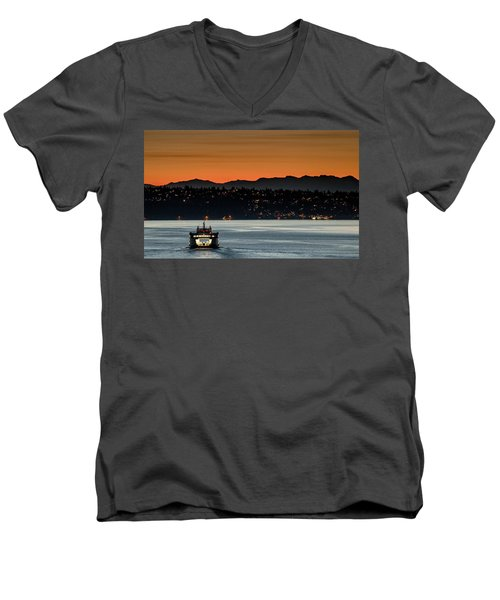 Ferry Sealth At Dawn Men's V-Neck T-Shirt