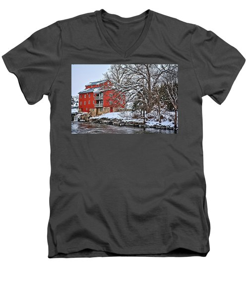 Fertile Winter Men's V-Neck T-Shirt by Bonfire Photography