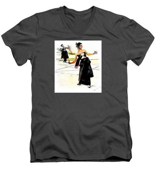 Festival Celebration Men's V-Neck T-Shirt by Ian Gledhill