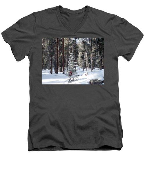 Festive Forest Men's V-Neck T-Shirt