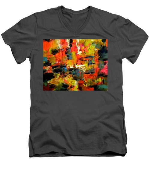Festive Night Men's V-Neck T-Shirt