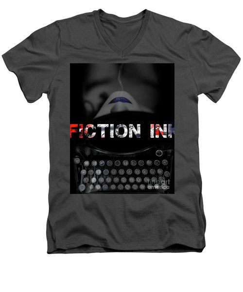 Fiction Ink Men's V-Neck T-Shirt by Nola Lee Kelsey