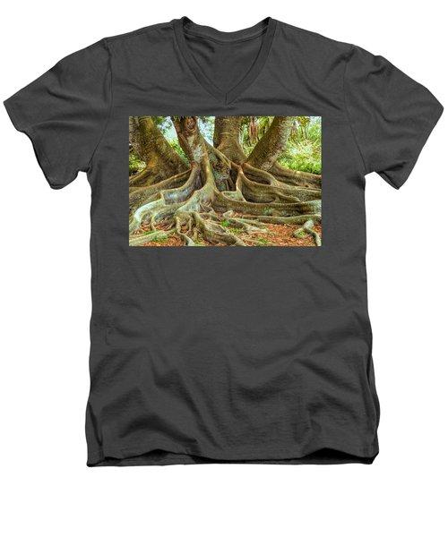 Ficus Roots Men's V-Neck T-Shirt