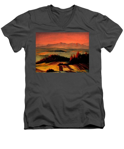 Field And Mountain Men's V-Neck T-Shirt