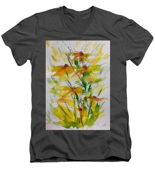 Field Bouquet Men's V-Neck T-Shirt