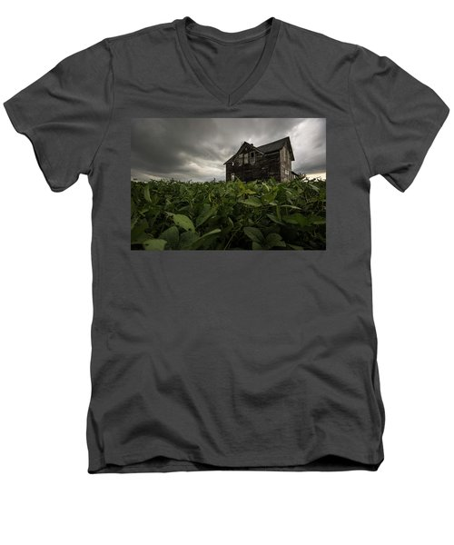 Men's V-Neck T-Shirt featuring the photograph Field Of Beans/dreams by Aaron J Groen