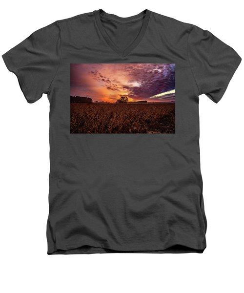 Field Of Beans Men's V-Neck T-Shirt