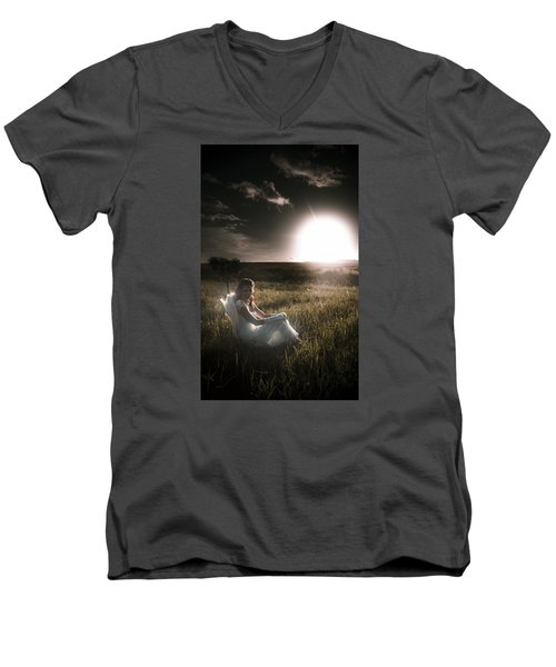 Men's V-Neck T-Shirt featuring the photograph Field Of Dreams by Jorgo Photography - Wall Art Gallery