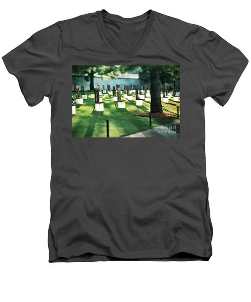 Field Of Empty Chairs Men's V-Neck T-Shirt