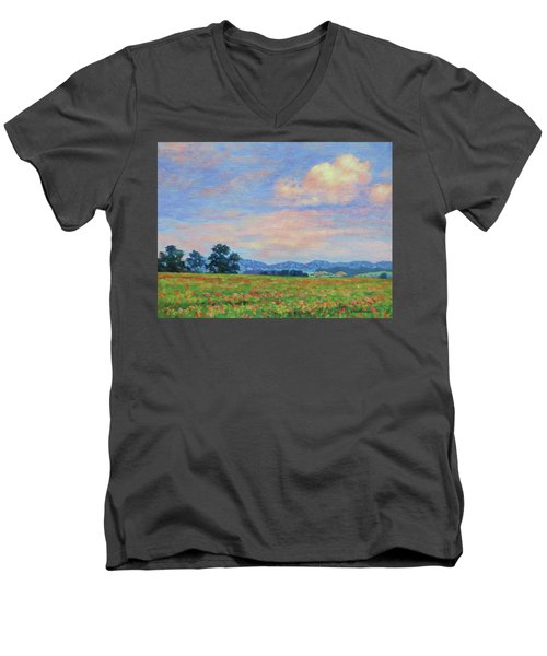 Field Of Flowers- Burkes Garden Fields Men's V-Neck T-Shirt