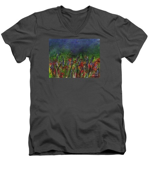 Field Of Flowers Men's V-Neck T-Shirt