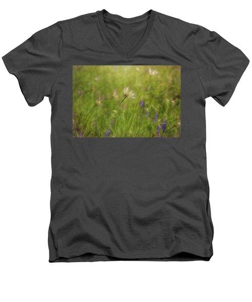 Field Of Flowers Men's V-Neck T-Shirt
