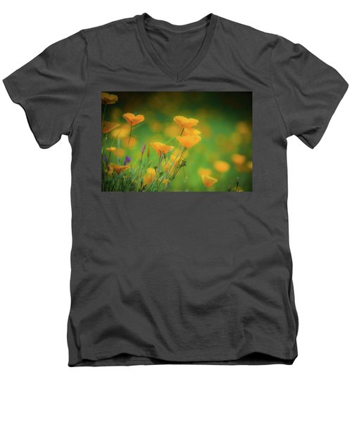 Field Of Poppies Men's V-Neck T-Shirt