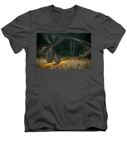 Field Warping Men's V-Neck T-Shirt
