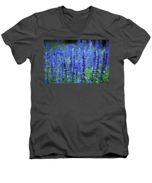 Fields Of Blue Men's V-Neck T-Shirt by Rowana Ray