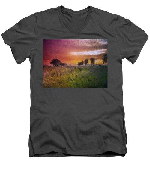 Fields Of Green Men's V-Neck T-Shirt